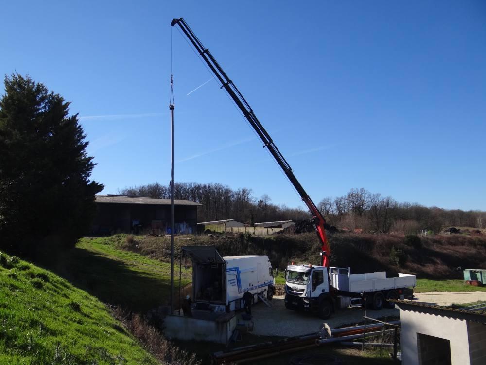remontage pompe colonne forage agricole