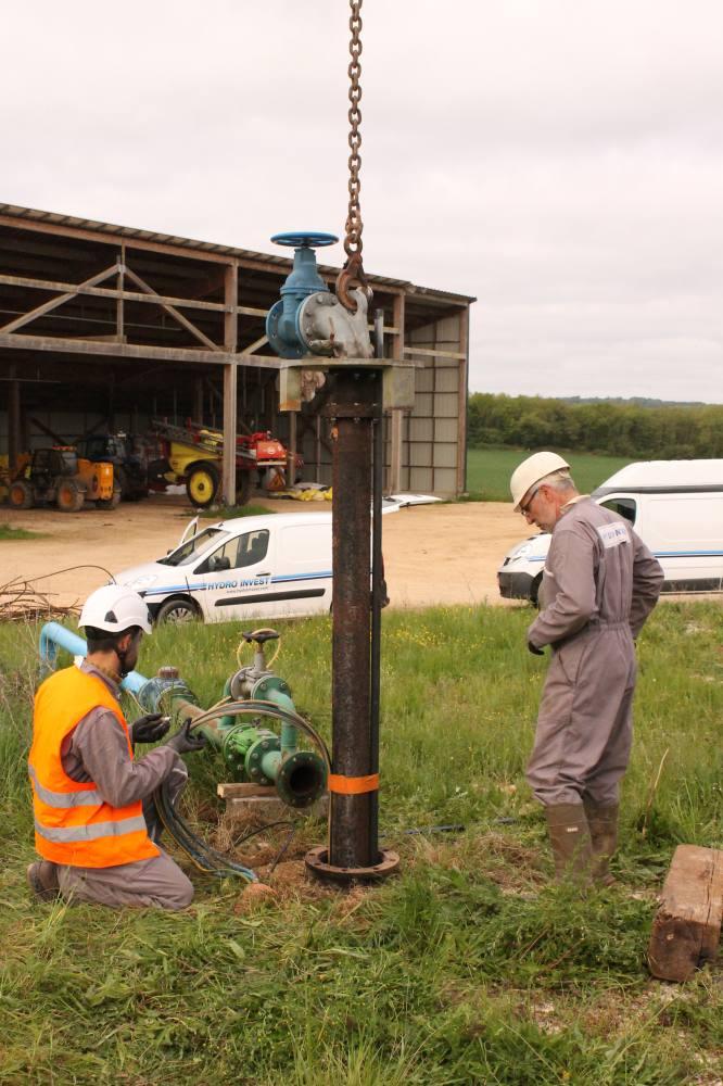 démontage colonne forage agricole
