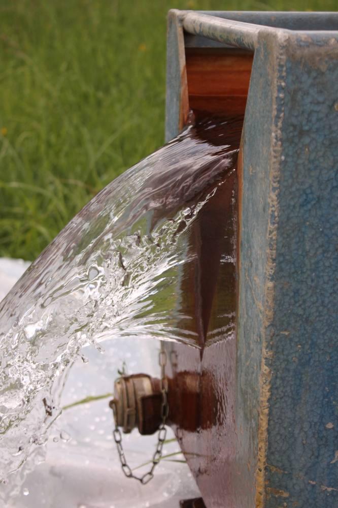 bac de décantation pompage eau